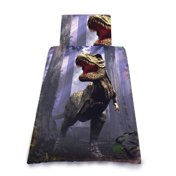 LAND OF T-REX - DUVET & PILLOW COVERS CASE SET SINGLE BED