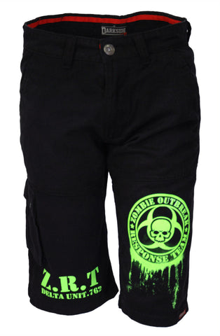 Darkside - ZOMBIE OUTBREAK HAZARD - Mens Cargo Shorts