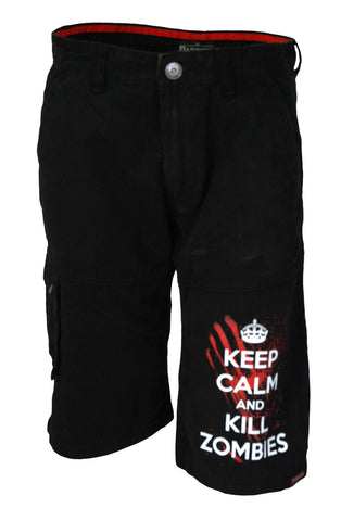 Darkside - KEEP CALM & KILL ZOMBIES  - Mens Cargo Shorts