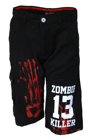 Darkside - ZOMBIE KILLER 13  - Mens Cargo Shorts - Black