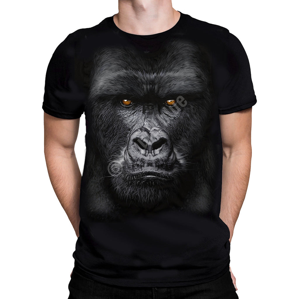 Liquid Blue - MAJESTIC GORILLA - Short Sleeve T-Shirt .