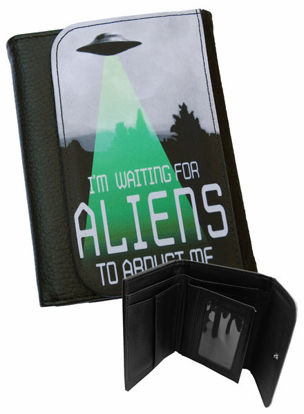 Darkside - WAITING FOR ALIENS  - Bi-Fold Simulated Leather Wallet