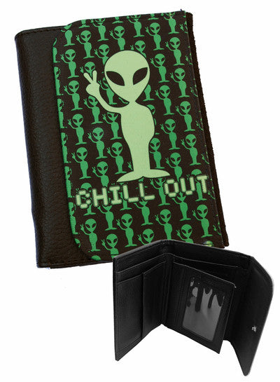 Darkside - CHILL OUT - Bi-Fold Simulated Leather Wallet