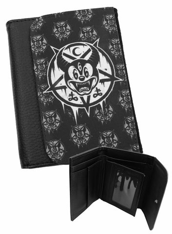 Darkside - MICKEY 666 - Bi-Fold Simulated Leather Wallet