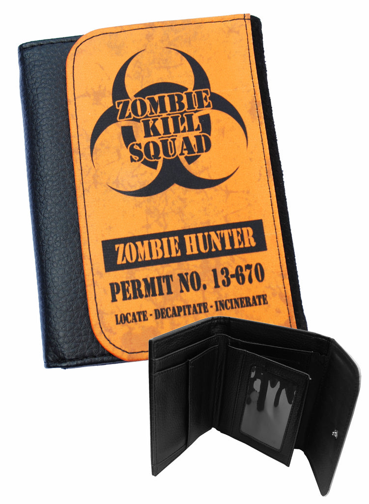 Darkside - ZOMBIE HUNTER  - Bi-Fold Simulated Leather Wallet