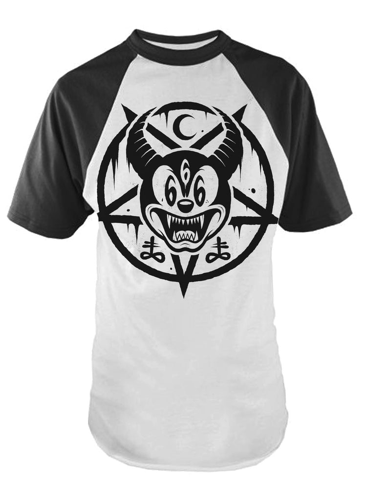 Darkside - MICKEY 666 - Mens Baseball T-Shirt
