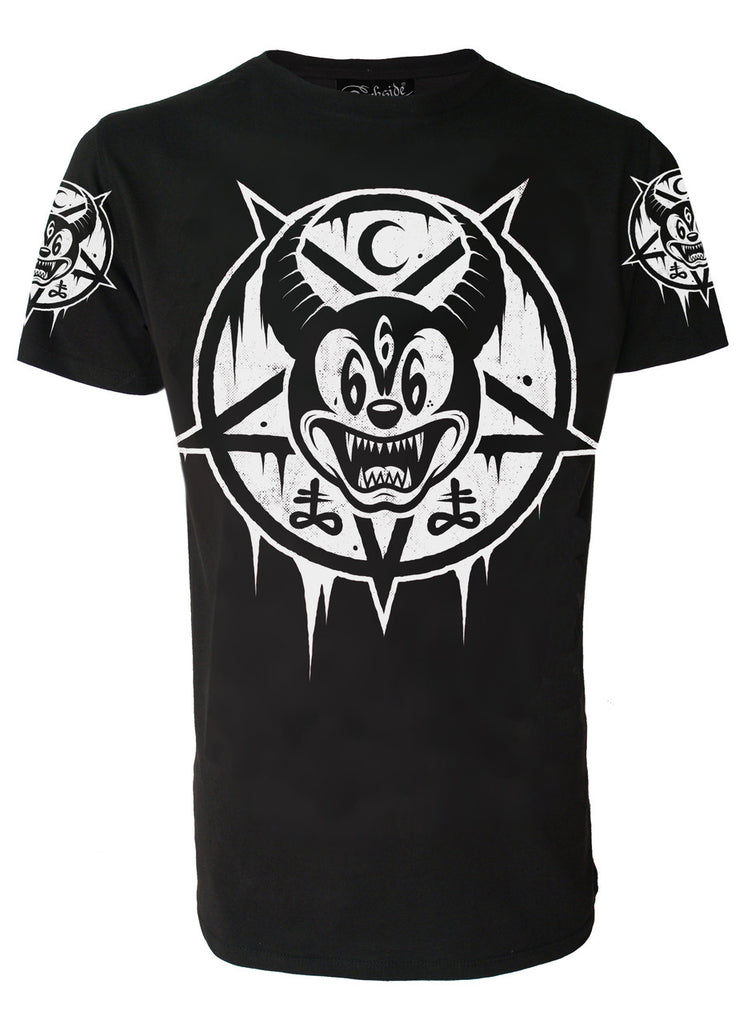 Darkside - MICKEY 666 - Mens T-Shirt - Black