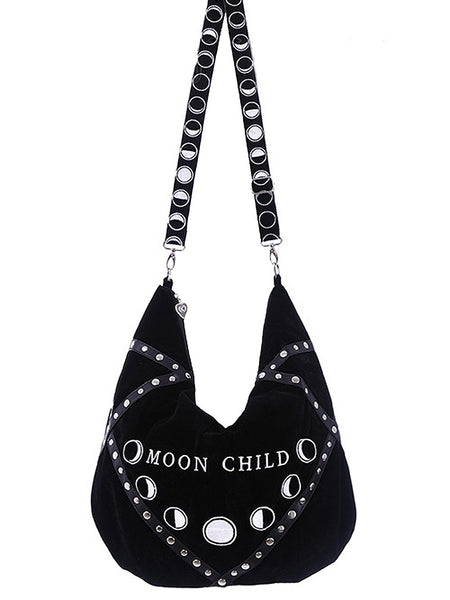 Restyle - MOON CHILD HOBO BAG - Black