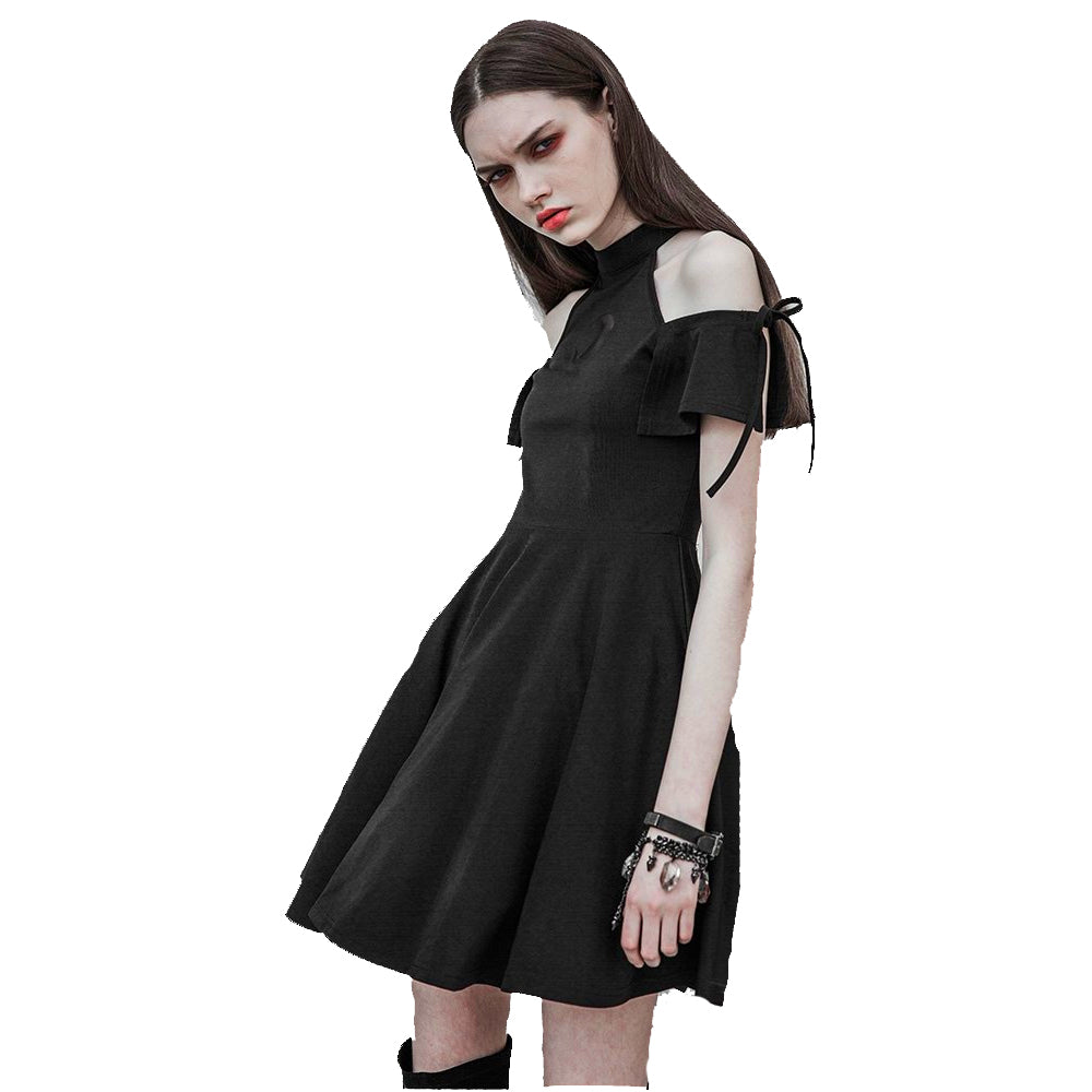 Punk Rave - MOON MAGIC - Goth Cold Shoulder Dress