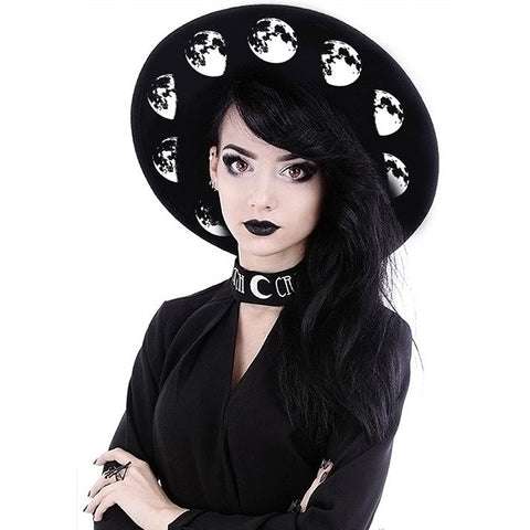 Restyle - MOON PHASES - Wide Brim Hat