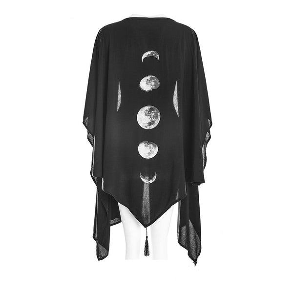 Restyle - MOON PHASES - Gothic Fashion Shawl