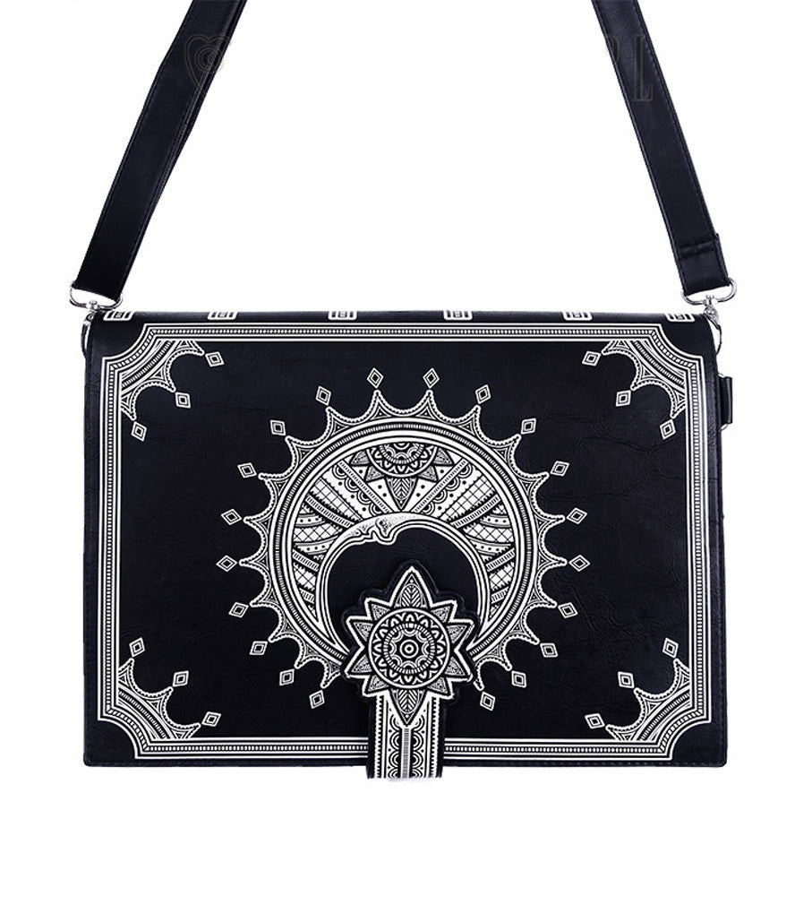 Restyle - MOON BOOK BAG - Black