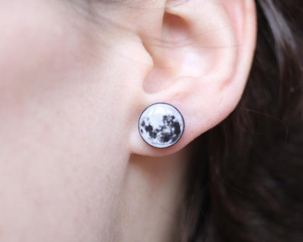 Curiology - FULL MOON - Stud Earrings