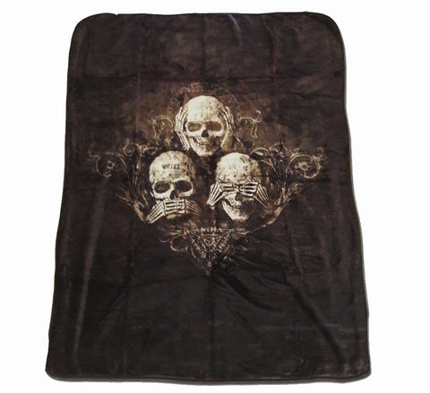 Alchemy - NO EVIL - Luxury Fleece Blanket