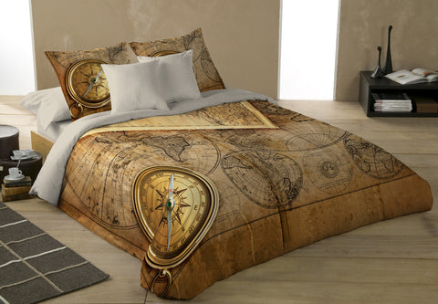 Wild Star - OLD WORLD NAVIGATION - Duvet Cover King/Queen