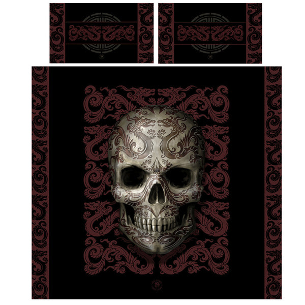 Wild Star - ORIENTAL SKULL - Duvet/Pillow Covers set UK KING / US QUEEN