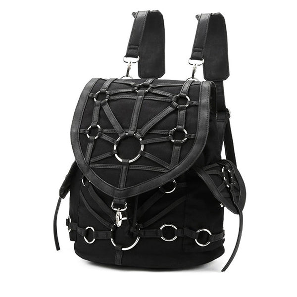 Restyle - O-RING BACKPACK - Gothic Black harness backpack