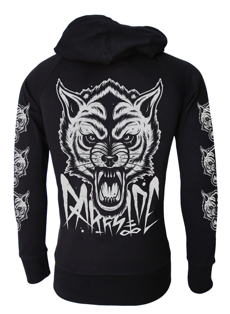 Darkside - OCCULT WOLF  - Lightweight Hoodie - Black