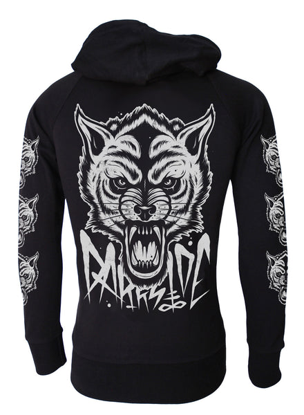 Darkside - OCCULT WOLF  - Mens Lightweight Hoodie - Black