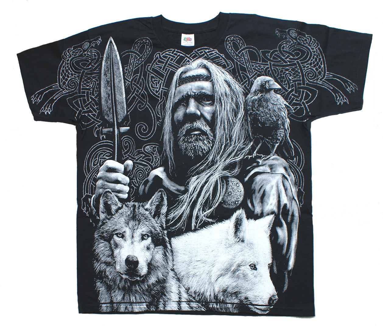 Aquila ODIN VIKING WARRIOR T Shirt Wrap Black