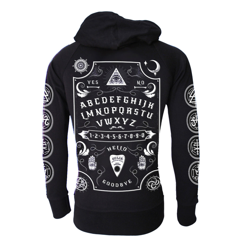 Darkside - OUIJA BOARD WHITE FONT - Lightweight Hoodie - Black