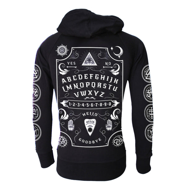 Darkside - OUIJA BOARD WHITE FONT - Mens Lightweight Hoodie - Black