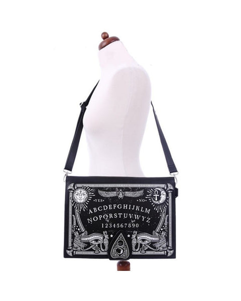 Restyle - OUIJA BOARD BAG - Occult purse - Black