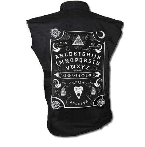 Dark Art Cult - OUIJA BOARD  - Sleeveless Workers Shirt - Black