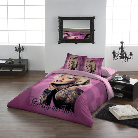 MARILYN PRETTY IN PINK  - Duvet Case Set - UK Double / US Full Twin