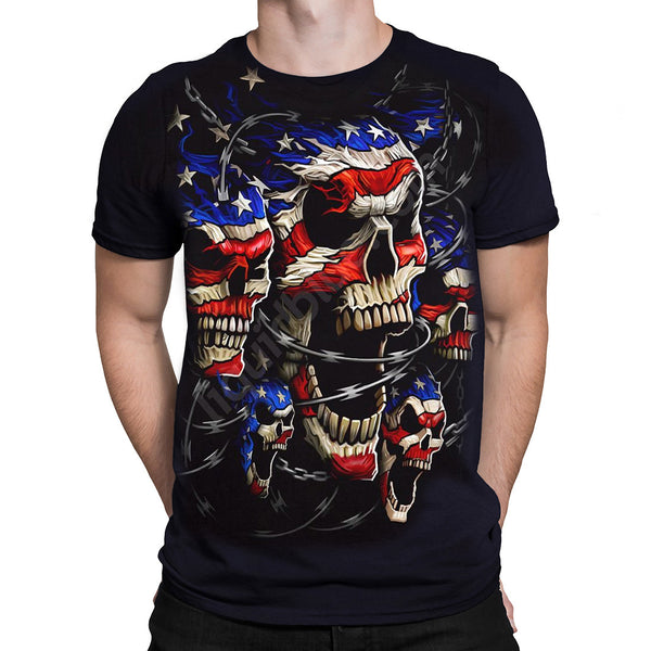 Liquid Blue - PATRIOTIC WRATH - Short Sleeve T-Shirt PLUS SIZES