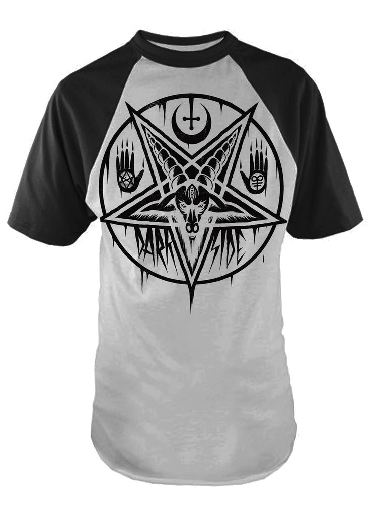 Darkside - PENTAGRAM BAPHOMET - Mens Baseball T-Shirt