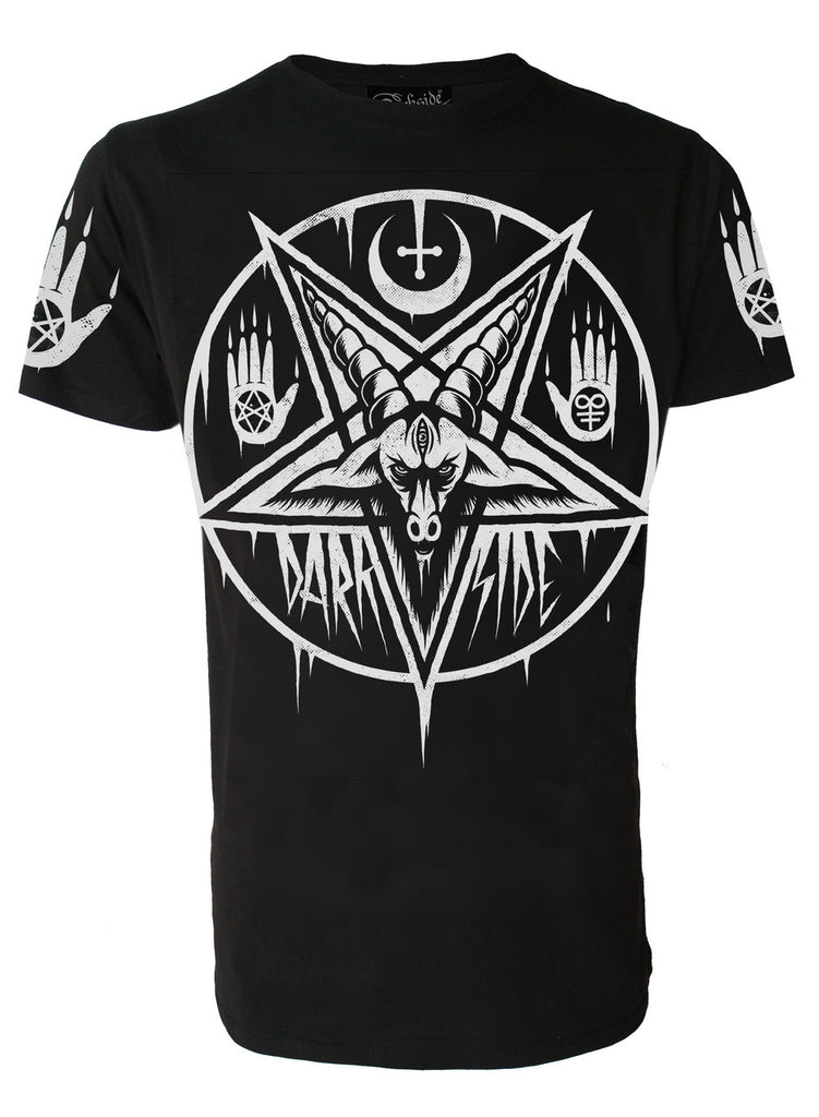 Darkside - PENTAGRAM BAPHOMET - Mens T-Shirt - Black