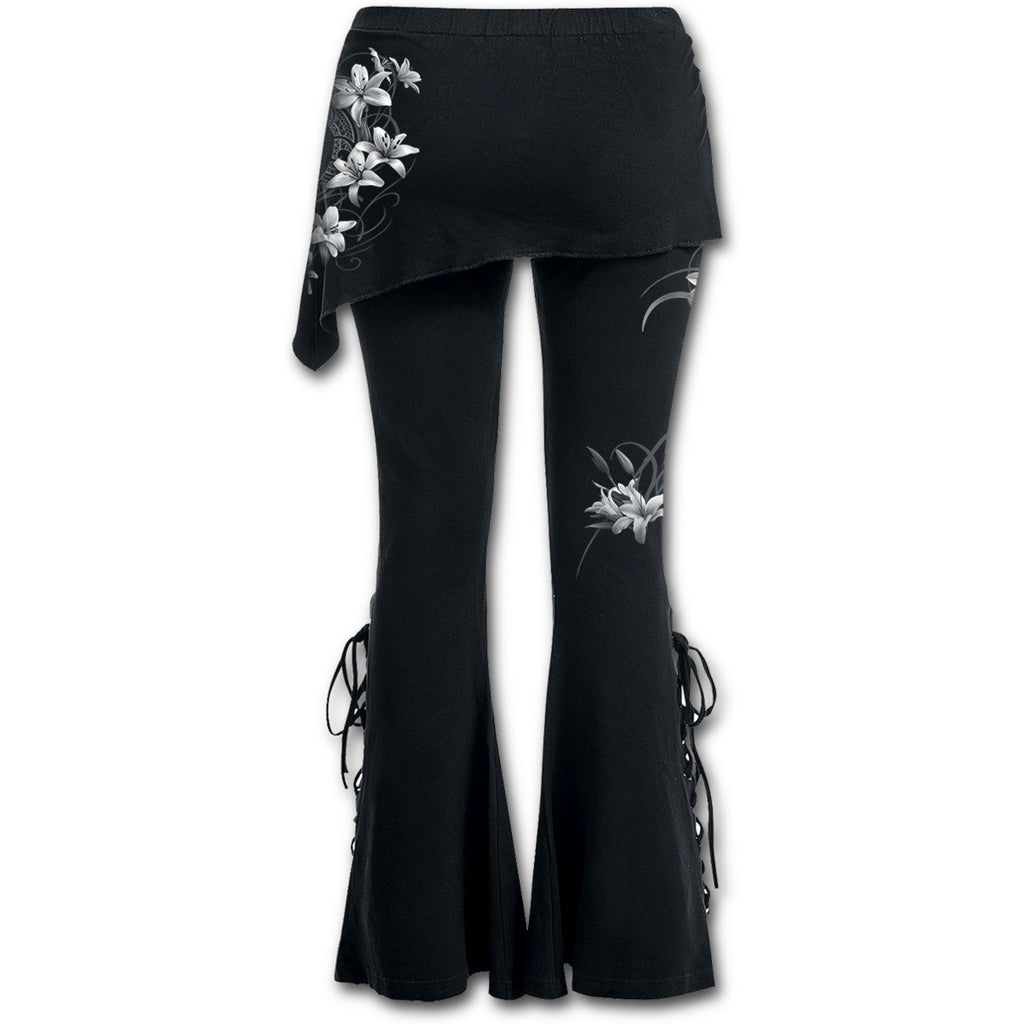 Spiral - PURE OF HEART - 2in1 Boot-Cut Leggings with Micro Slant Skirt