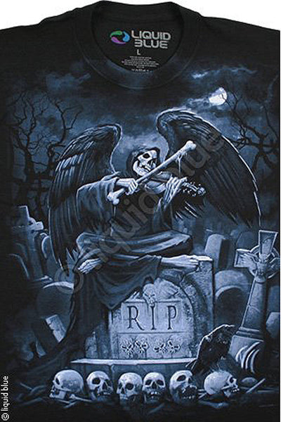 Liquid Blue - R.I.P REAPER - Short Sleeve T-Shirt .