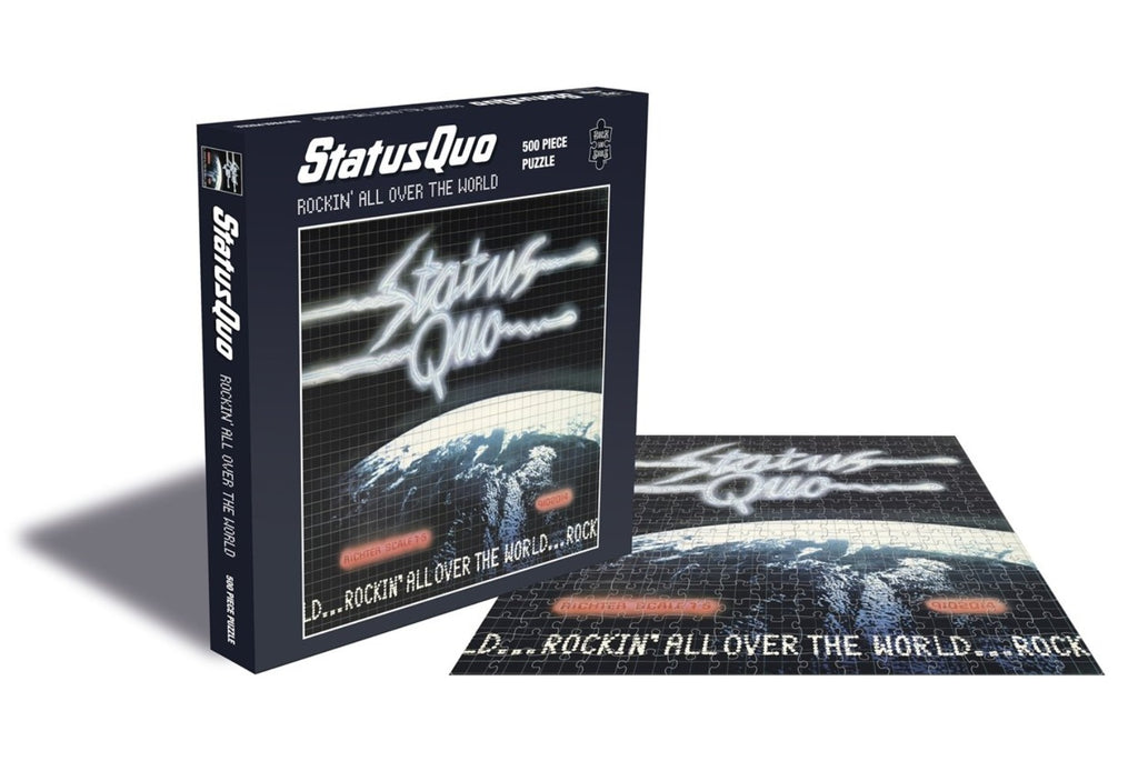 Rock Saws - Status Quo - ROCKIN ALL OVER THE WORLD - 500 piece Jigsaw Puzzle