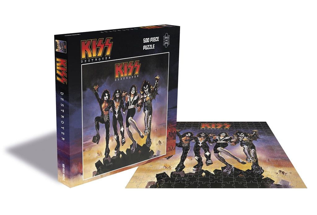 Rock Saws - Kiss DESTROYER - 500 piece Jigsaw Puzzle