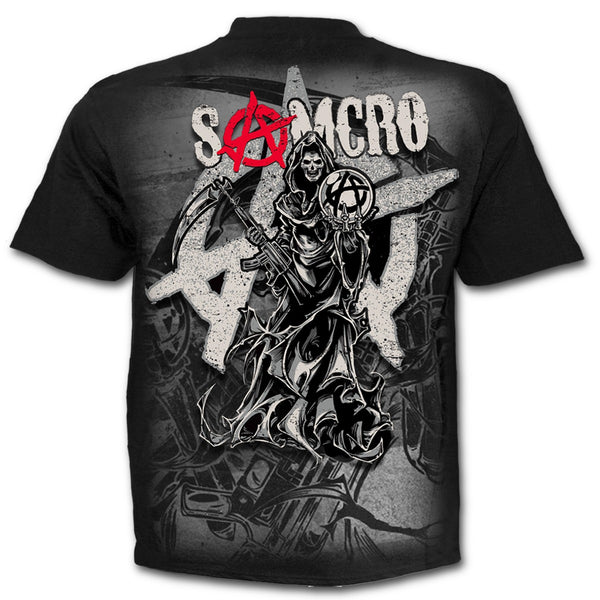 Spiral - REAPER MONTAGE - Sons of Anarchy T-Shirt Black