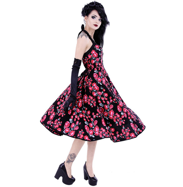 Restyle - ROSES DRESS - Halter Neck - Multicoloured