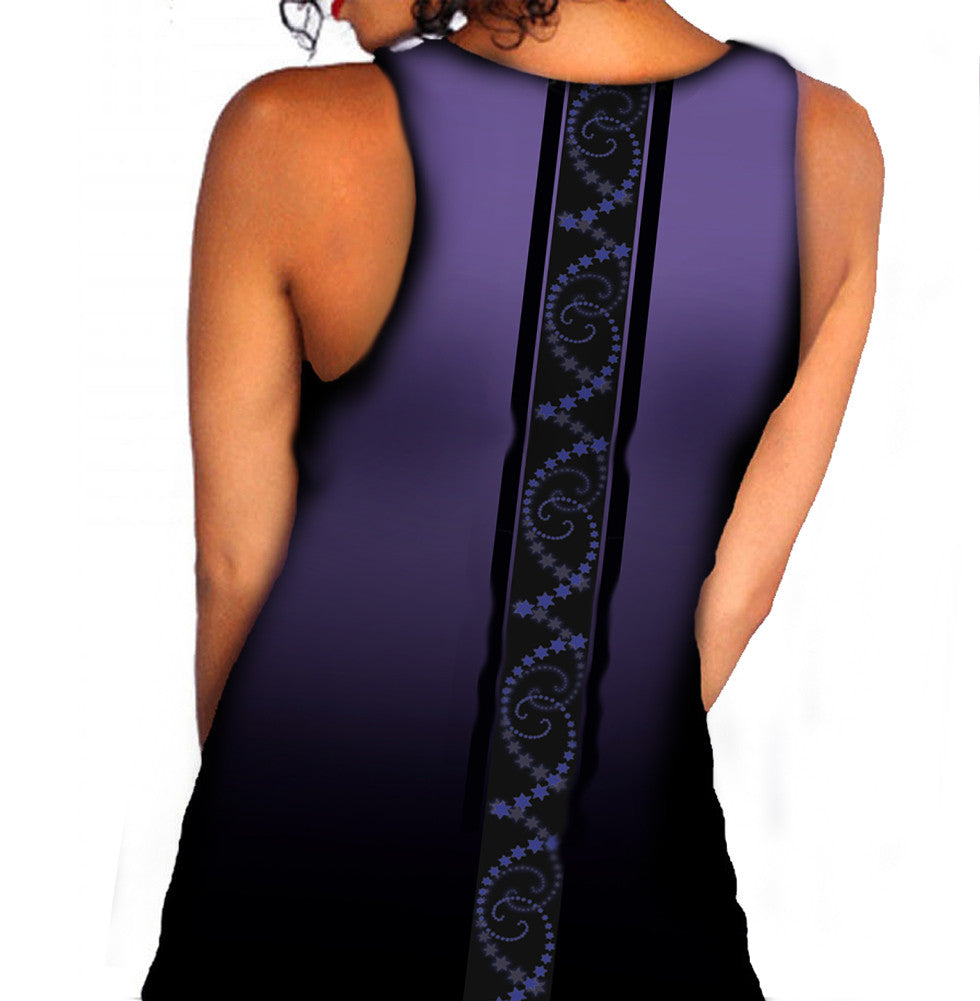 Image of Back of Vest Top on Model