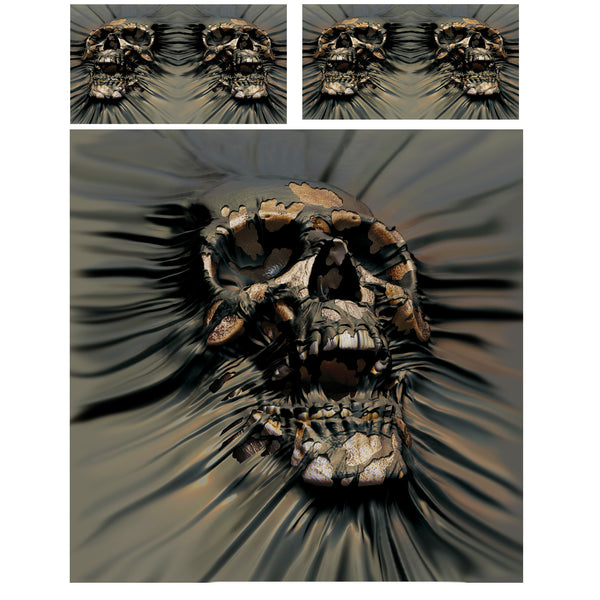 SKULL RIP THROUGH - DUVET & PILLOW COVERS CASE SET DOUBLE / FULL TWIN  Art by David Penfound