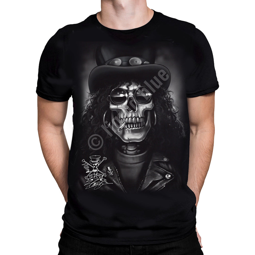 Liquid Blue - SLASH SKULL - Short Sleeve T-Shirt .