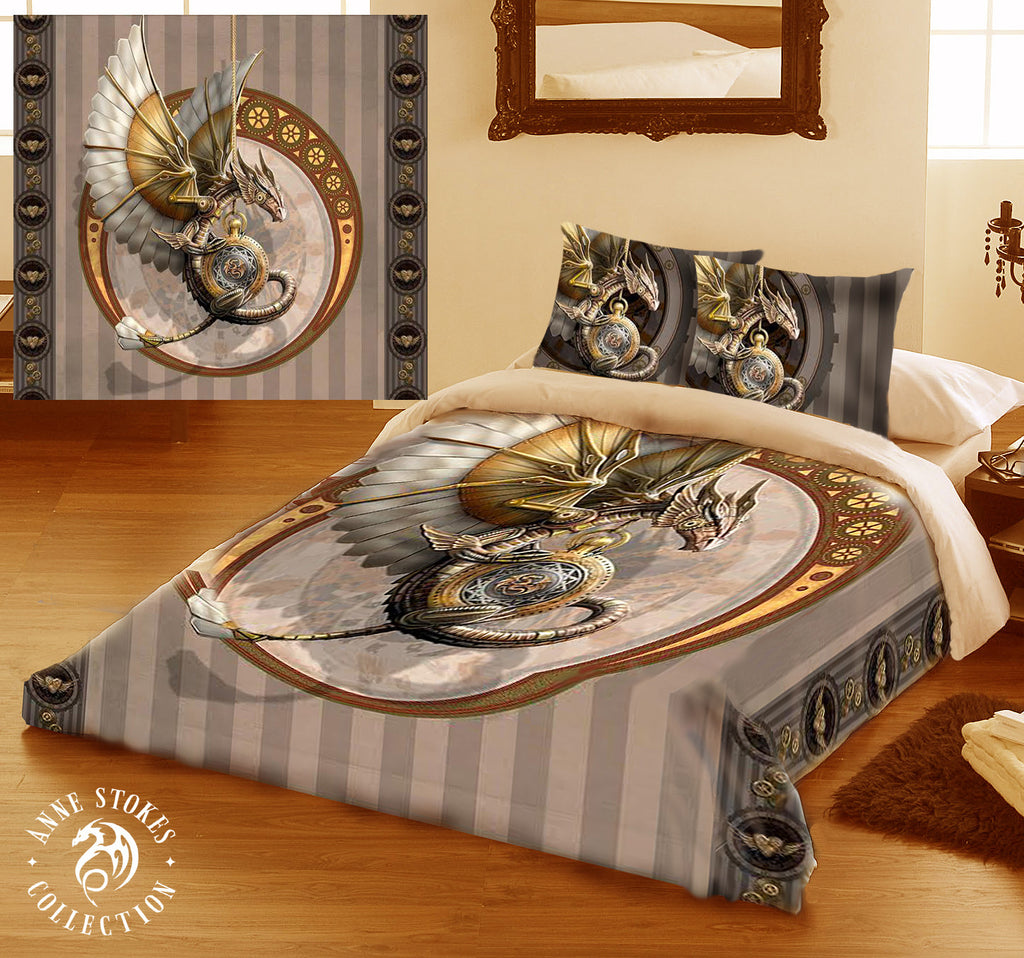 STEAMPUNK DRAGON-Duvet & Pillow Cases Cover Set King/Queen