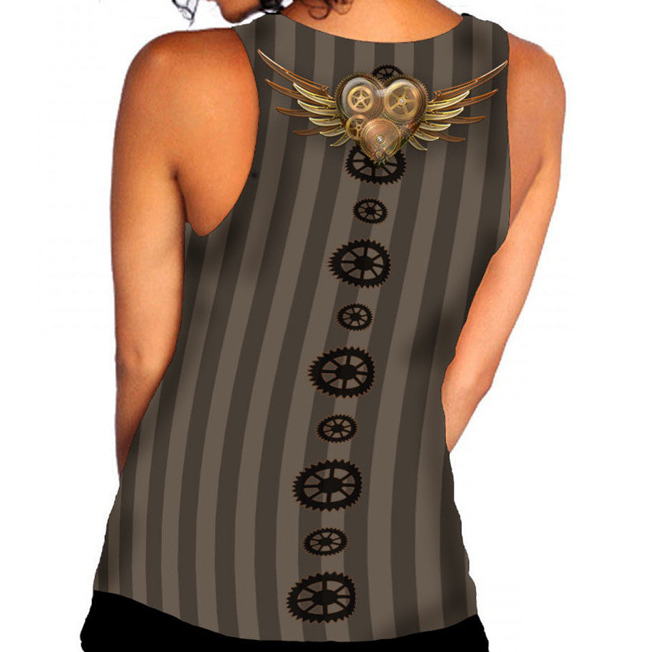Image of Back of Goth Top on Model