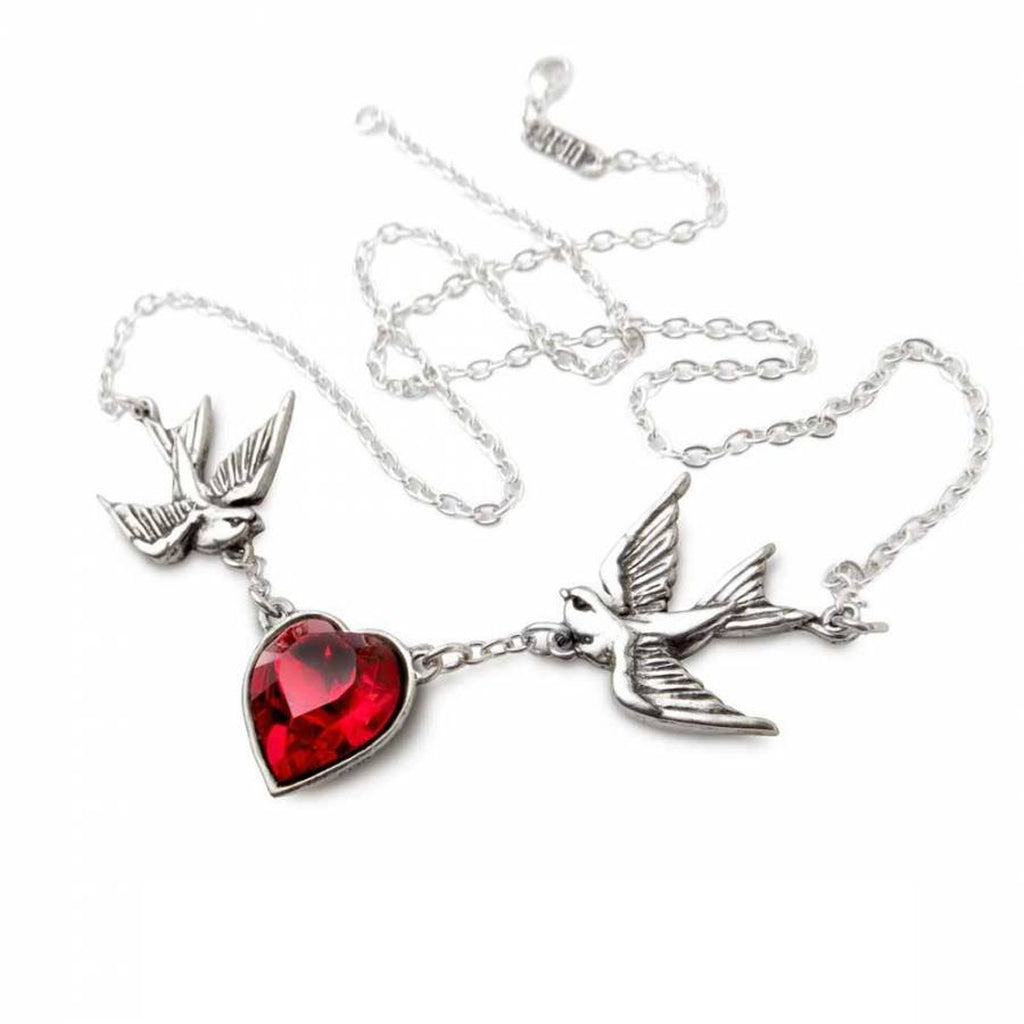 Image of Swallow Heart Necklace