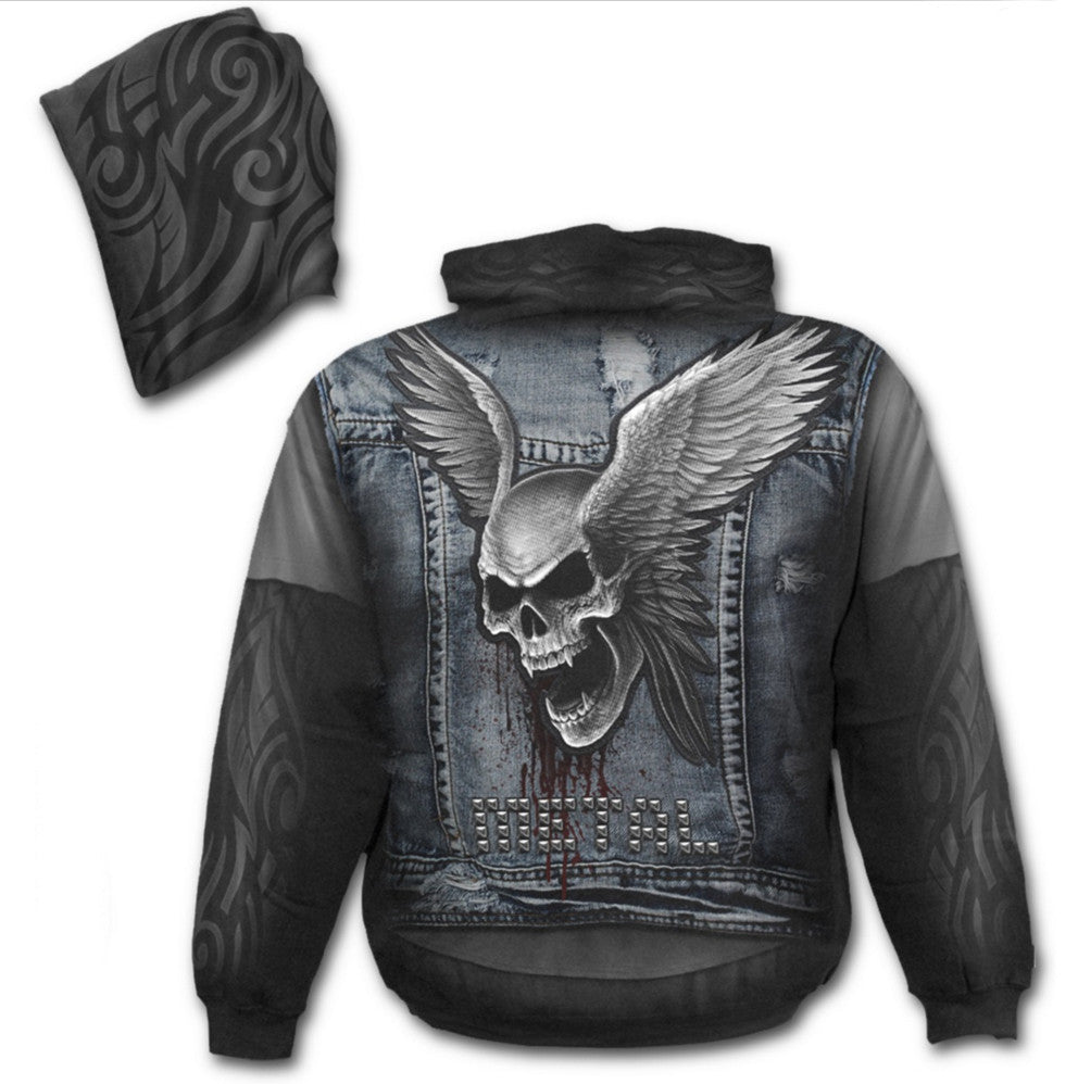 Spiral - THRASH METAL - All Over Print Hoodie Sweater .