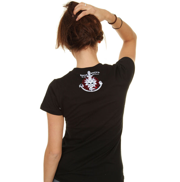 Billy Eight - TATTOO STUDIO - Women's Cap Sleeve T-Shirt - Black