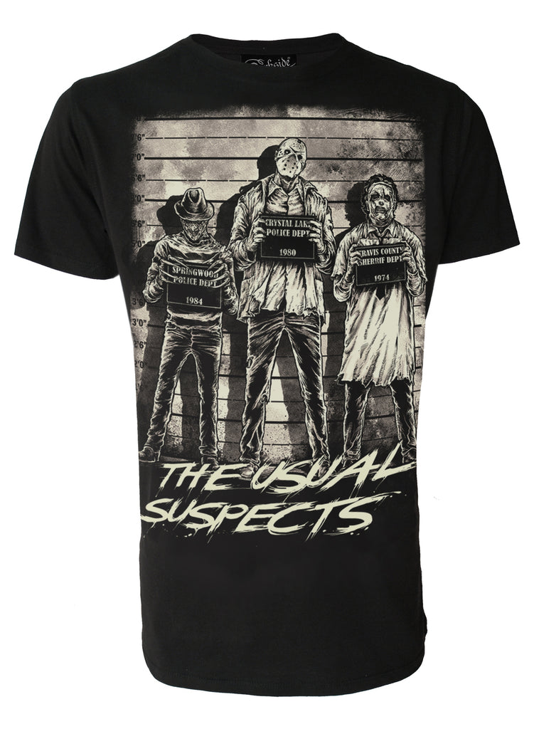 Darkside - THE USUAL SUSPECTS - Mens T-Shirt - Black