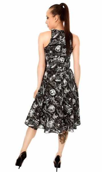 FOLTER - THE HAUNTED - Wicked Women Hipster Dress  - Black
