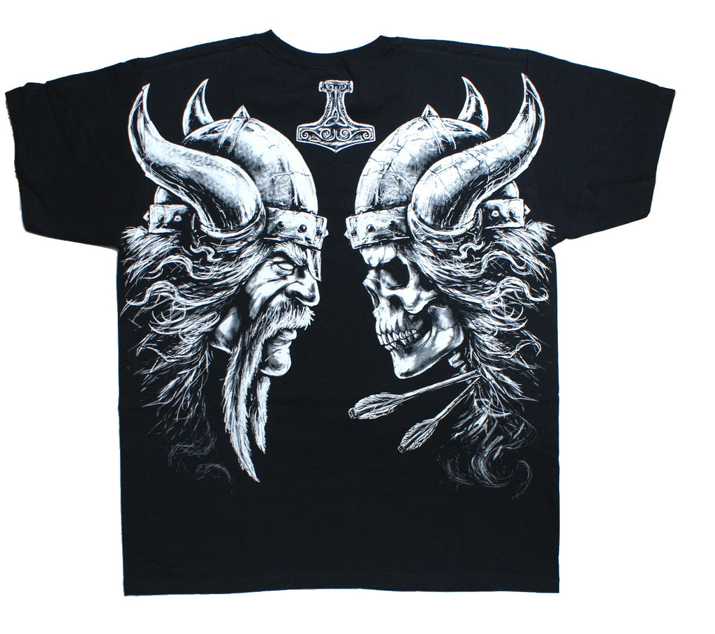 VIKING THOR'S HAMMER  T-Shirt Wrap - Black