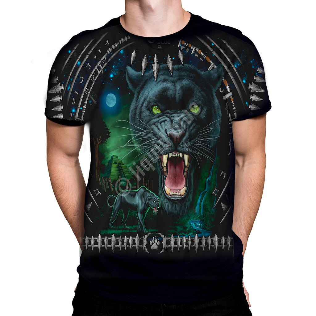 Liquid Blue - Tribal Panther - T-Shirt